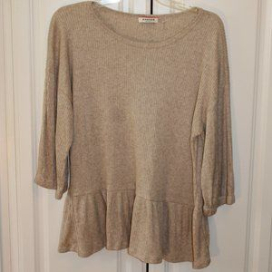 Taupe Andree 3/4 Sleeve Top